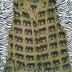 Forever 21 Elephant print blouse
